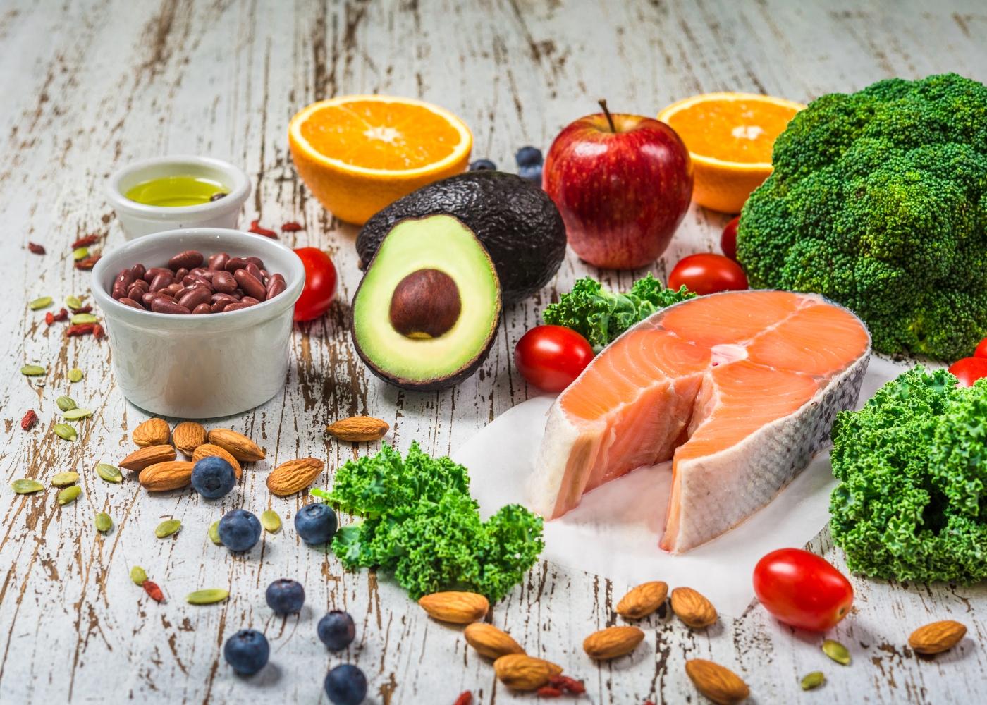Variedade de alimentos nutricionalmente densos