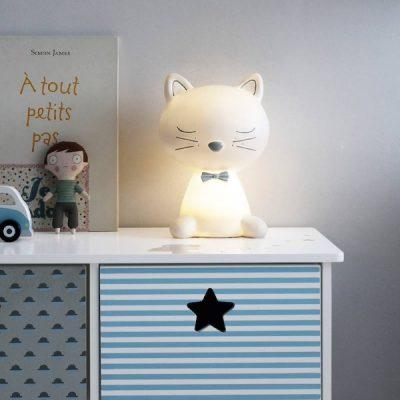 candeeiro formato gatinho