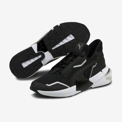 sapatilhas pretas e brancas