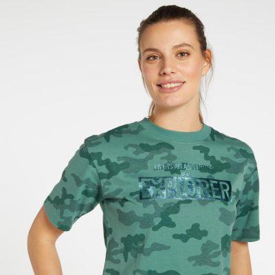 t-shirt camuflado verde